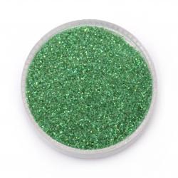 Брокат/глитер на прах 0.3 мм 250 микрона зелен тревисто холограмен/дъга -20 грама