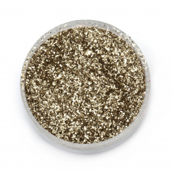 Brocade/glitter powder 0.3 mm 250 microns gold/diamond - 20 grams