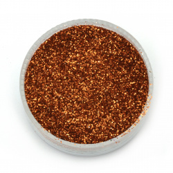 Brocade/glitter powder 0.3 mm 250 microns antique copper - 20 grams