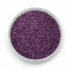 Brocade/glitter powder 0.3 mm 250 microns purple/amethyst - 20 grams