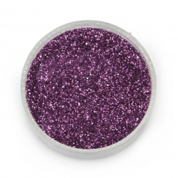 Brocade/glitter powder 0.3 mm 250 microns violet dark - 20 grams