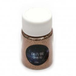 Χρυσόσκονη 0,2 mm χάλκινο -15 ml ~ 12 γραμμάρια