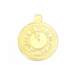 Coin metal watch 15 mm gold with a ring -50 pieces
