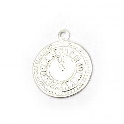 Coin metal watch 15 mm silver with a ring -50 pieces