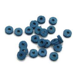 Шайба кожа 6x2 мм синя тъмна -12.5 грама ~300 броя