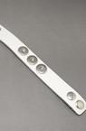 Brățară Buton metalic din piele naturala Tik-tac 240x25 mm alb