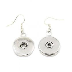 Обеци метал цвят сребро за копче Тик-так 40x19x5 мм