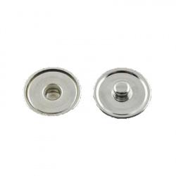 Baza metalica pentru nasture Tik-tak de 18 mm, 16 mm culoare argintiu -6 piese