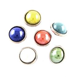 Копче Тик-так 12 мм цвят седеф АСОРТЕ