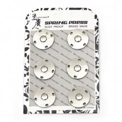 Копче метал тик-так кръг 25x5 мм дупка 7 мм цвят сребро -1 брой