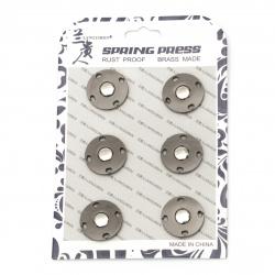 Копче метал тик-так кръг 21x6 мм дупка 7 мм цвят черно -1 брой