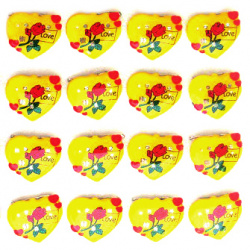 Светещи със секретна игла -сърце роза жълто LOVE-мин.заявка 5 броя