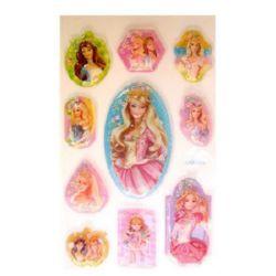 Autocolante decorative, 3D cu margele, Prințesă, 10 bucăți