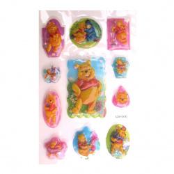 Figurine relief adeziv cu margele Winnie the Pooh 1 -11 bucăți