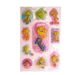 Figurină în relief adeziv cu perle de Tweety -9 bucăți
