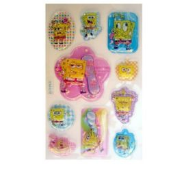 Decorative Stickers, 3D,with beads Spongebob - 10 pieces