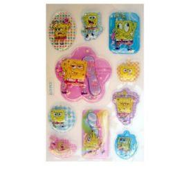 Figurine relief adeziv cu perle SpongeBob -10 bucăți