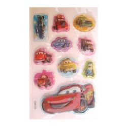 Decorative Stickers, 3D with beads Car -10 pieces