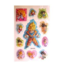 Decorative Stickers, 3D,with beads Naruto  - 11 pieces