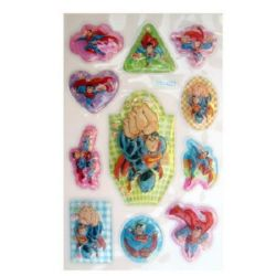 Decorative Stickers, 3D with beads Superman  - 11 pieces