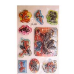 Decorative Stickers, 3D with beads  Spiderman  -9 pieces