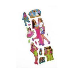 Figurină adeziv cu brocart Barbie2