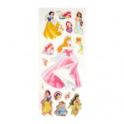Figurină adeziv cu prințese brocart