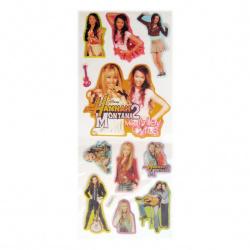 Figurină adeziv cu brocart Hanna Montana