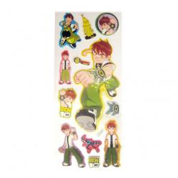 brocade stickers with ben ten