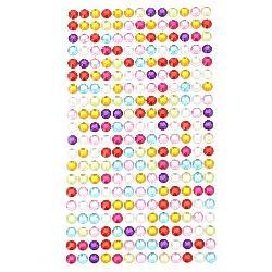 Pietre autoadezive acrilice 6 mm colorate -260 bucăți