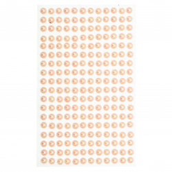 Self-Adhesive Pearl Hemispheres Flatback DIY 6 mm pink light - 216 pieces