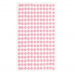 Самозалепващи перли полусфери 6 мм розови - 216 броя