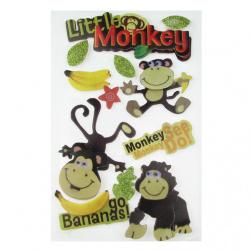 Αυτοκόλλητα 3D με μαϊμούδες
