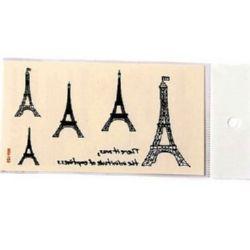 Autocolante de hârtie, tatuaje temporare, Turnul Eiffel 5 ~ 49x11 ~ 42 mm -5 buc