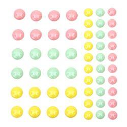 Pietre emailate autoadezive 6 ~ 8 mm 3 culori -54 bucăți