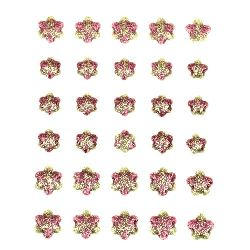 Autocolante emailate autoadezive cu floare de brocart 10 ~ 14 mm -30 buc
