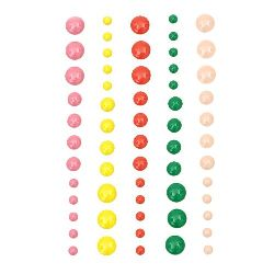 Pietre emailate autoadezive 4 ~ 8 mm 5 culori -60 bucăți