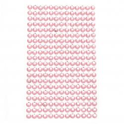 Самозалепващи камъни акрил 6 мм цвят розов светло - 260 броя