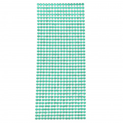 Self-adhesive stones acrylic 5 mm color teal - 646 pieces