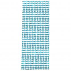 Самозалепващи камъни акрил 5 мм цвят тюркоаз тъмен - 646 броя