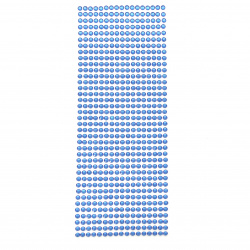 Самозалепващи камъни акрил 5 мм цвят син - 646 броя