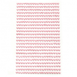 Self-adhesive stones acrylic 4 mm color pink light - 437 pieces