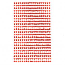 Самозалепващи камъни акрил 4 мм цвят червен - 437 броя