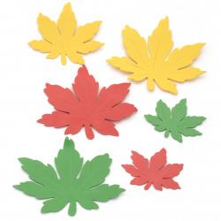 Foam Autumn leaves /EVA foam material/ 70 ±130x65±110 mm - 20 pieces