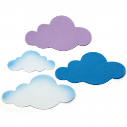Облаци фоам /EVA материал/ 110±160x65±110 мм - 12 броя