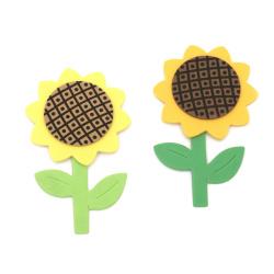 Floarea soarelui / foam material EVA / 55x90 mm - 6 bucăți