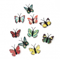 Butterfly 40x40 mm assorted -10 pieces