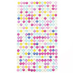 DIY Decoration Self-Adhesive Acrylic Rhinestones 5 mm colored - 646 pieces