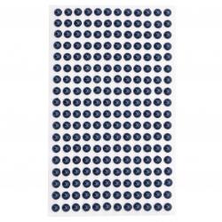 Self-Adhesive Pearl Hemispheres Flatback DIY 6 mm blue dark - 216 pieces