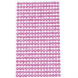 Самозалепващи камъни акрил 5 мм цвят розов - 646 броя